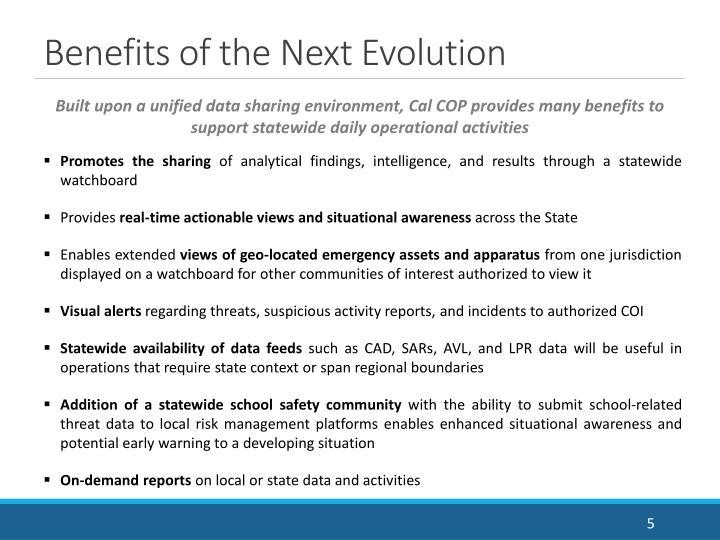 Benefits of the Next Evolution