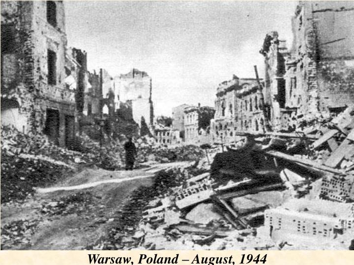 Warsaw, Poland – August, 1944