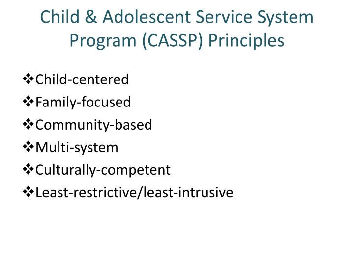 Child adolescent service system program cassp principles
