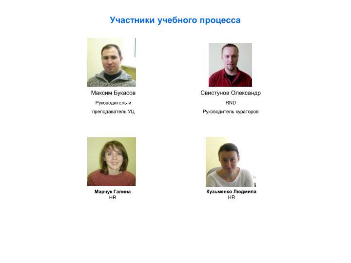 Участники учебного процесса