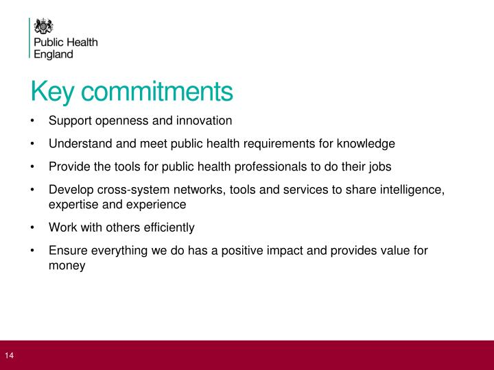 Key commitments