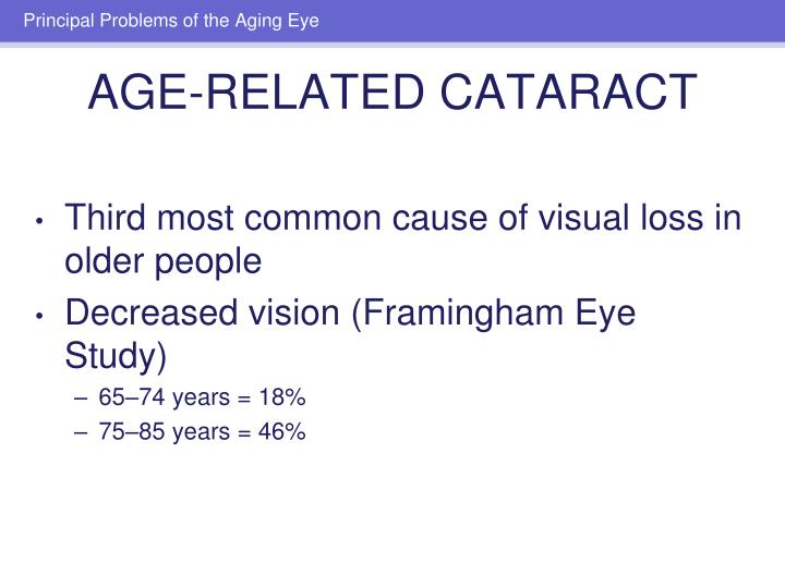 Third most common cause of visual loss in older people