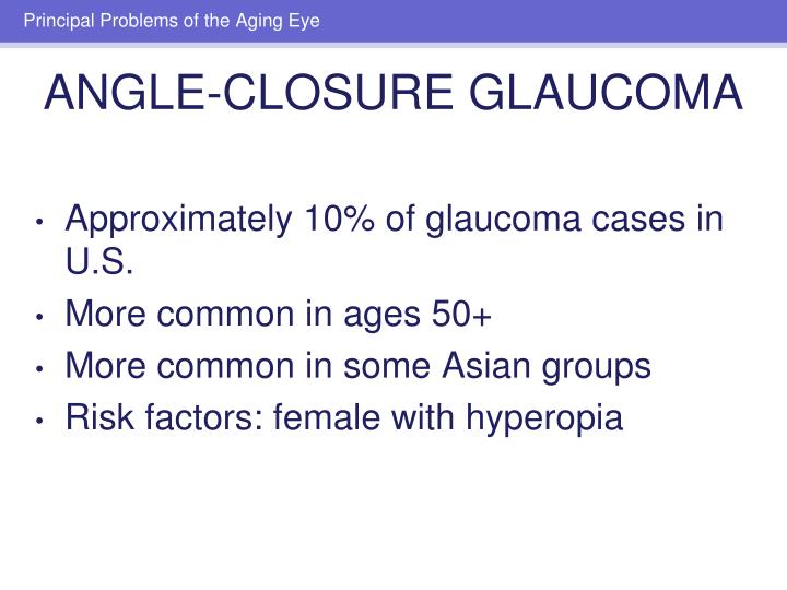 Approximately 10% of glaucoma cases in U.S.