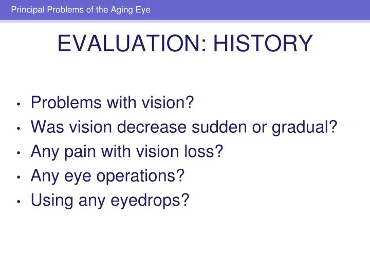 Problems with vision?
