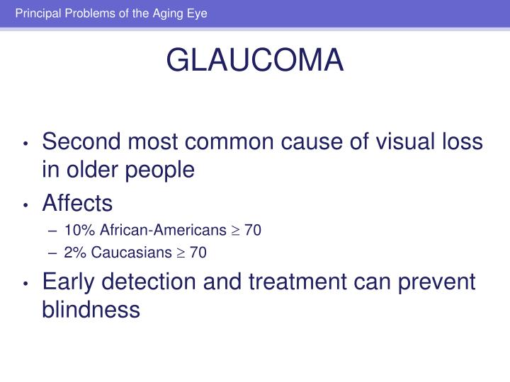 Second most common cause of visual loss in older people