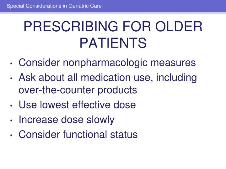 Consider nonpharmacologic measures