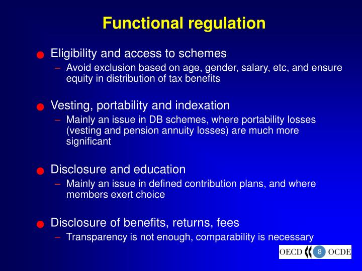Functional regulation