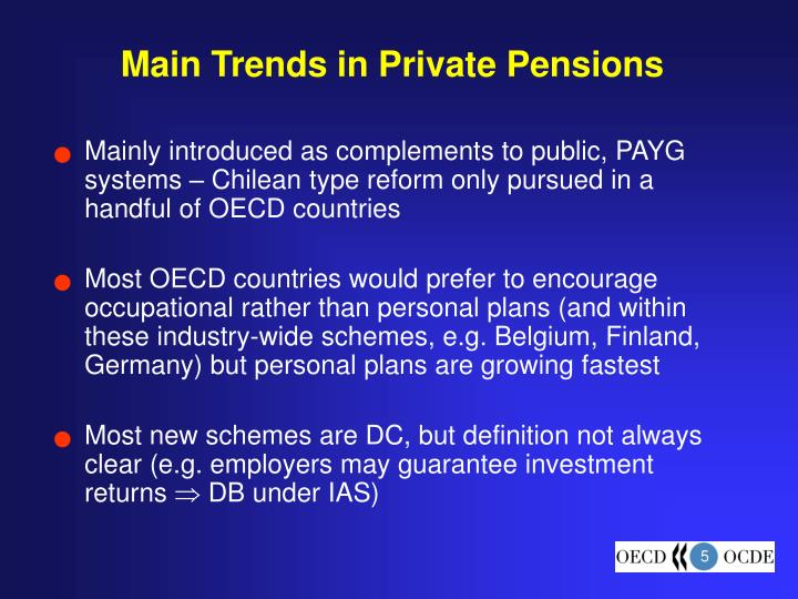 Main Trends in Private Pensions