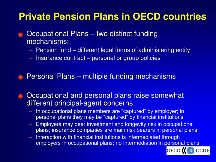 Private Pension Plans in OECD countries