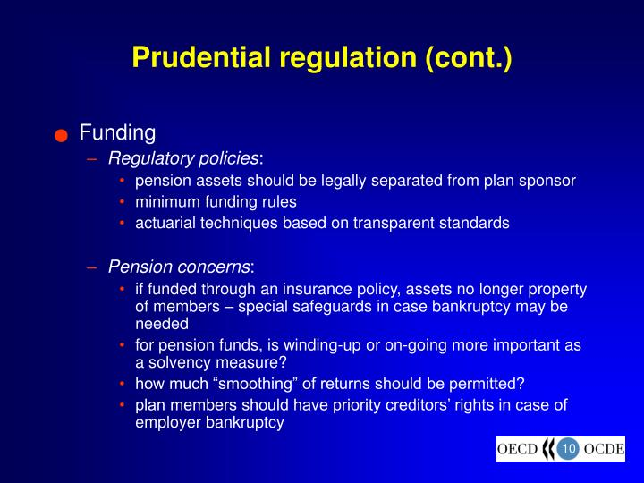 Prudential regulation (cont.)