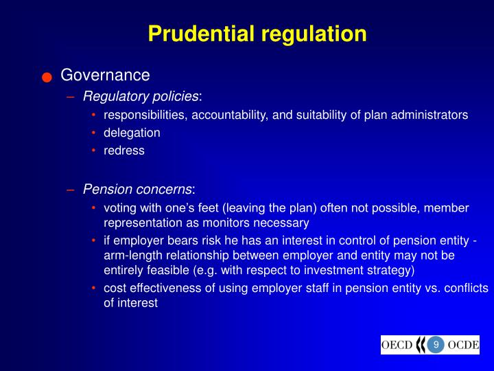 Prudential regulation
