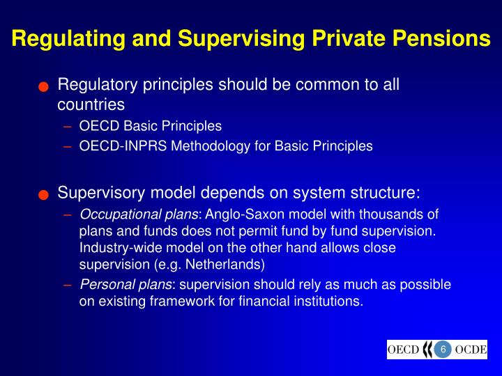 Regulating and Supervising Private Pensions