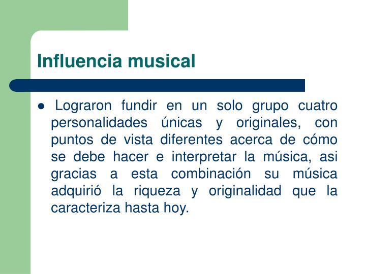 Influencia musical