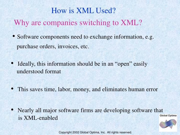 How is XML Used?