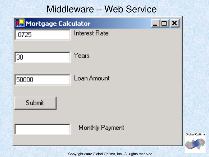 Middleware – Web Service