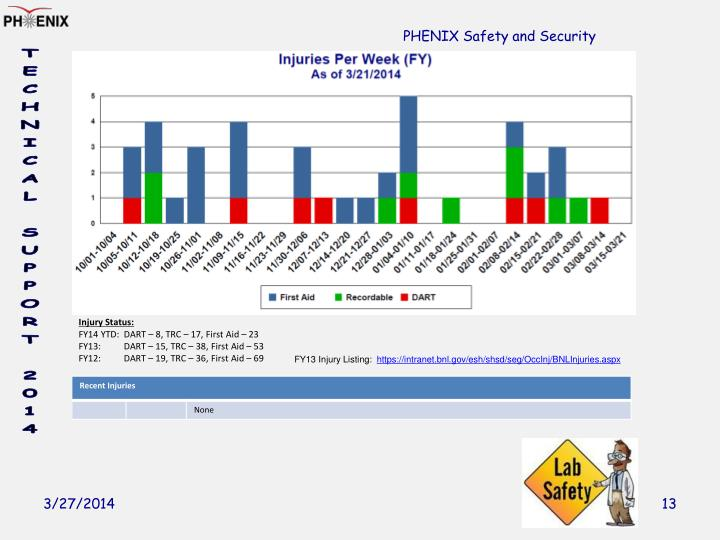 PHENIX Safety and Security
