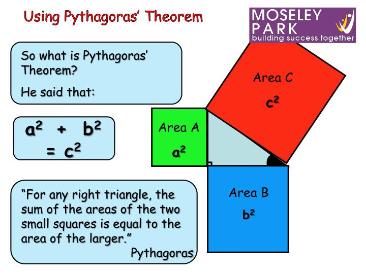 Using Pythagoras