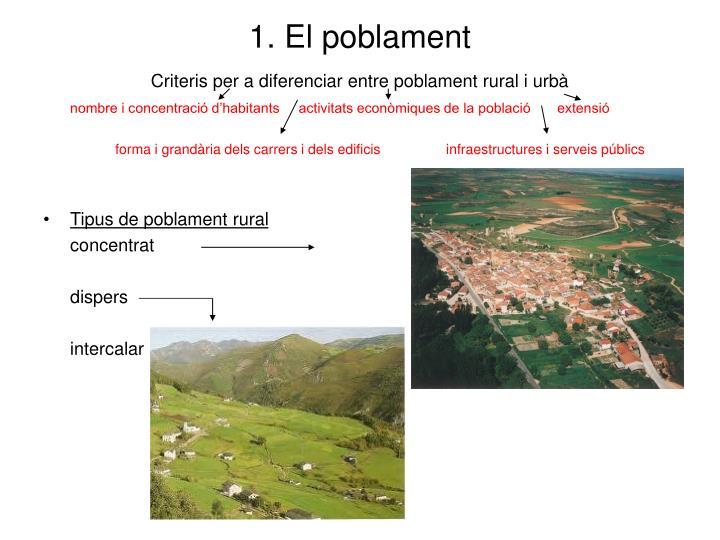 1. El poblament