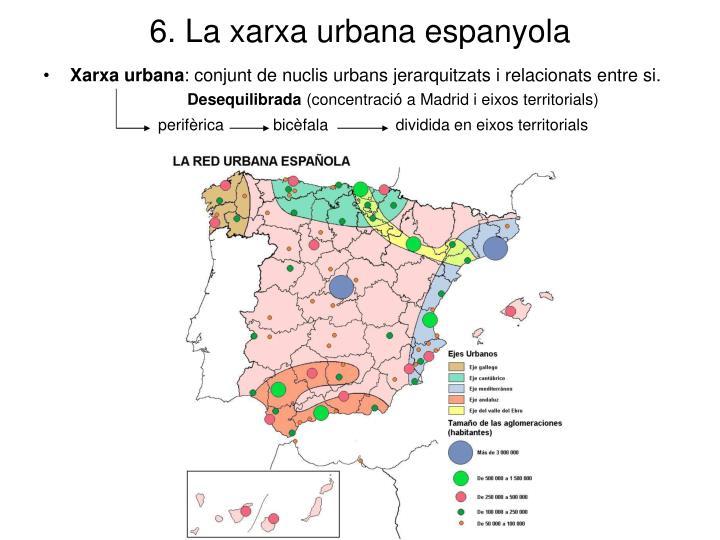 6. La xarxa urbana espanyola