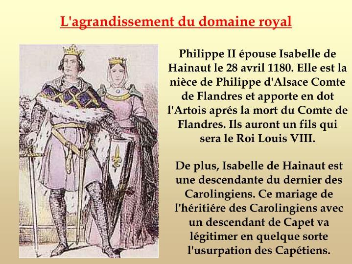 L'agrandissement du domaine royal