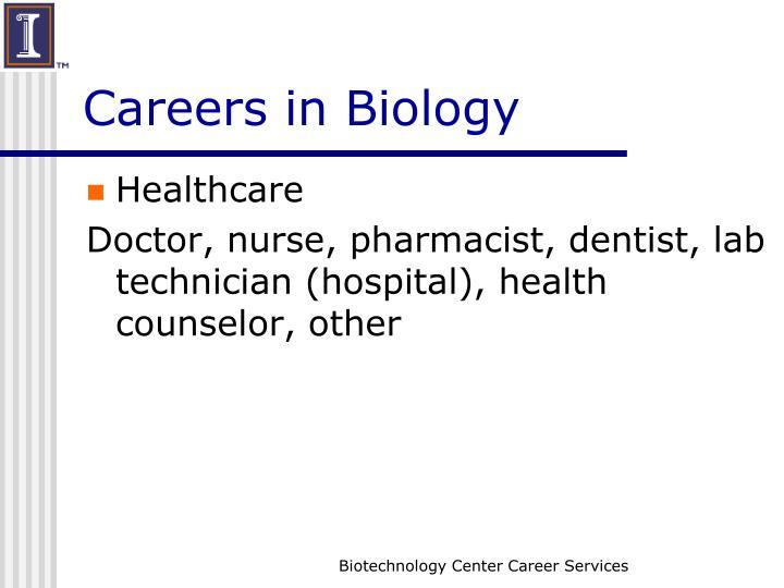 Careers in Biology