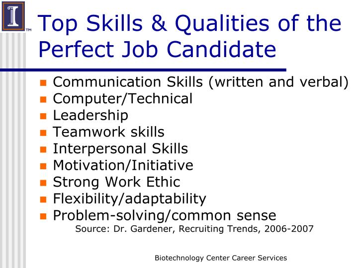Top skills qualities of the perfect job candidate