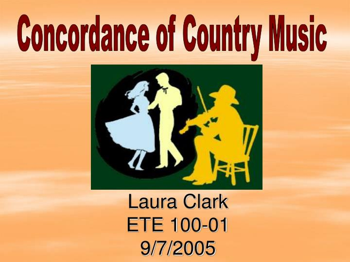 Concordance of Country Music