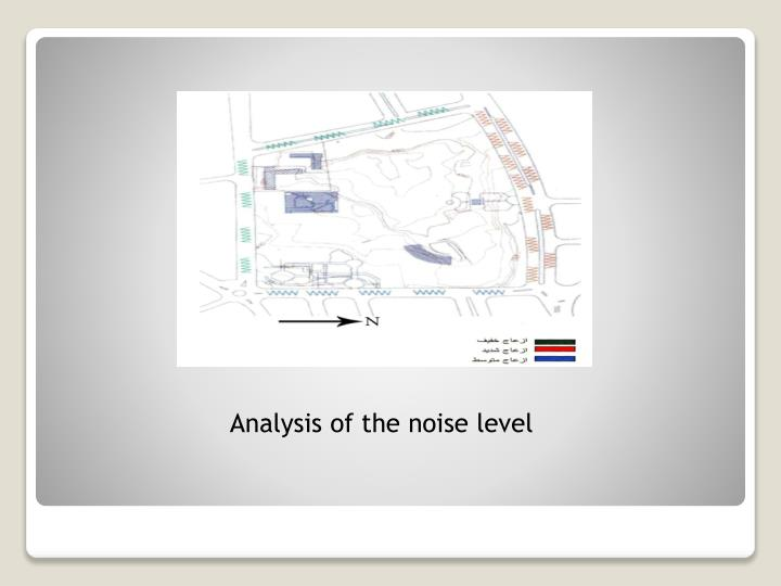 Analysis of the noise level