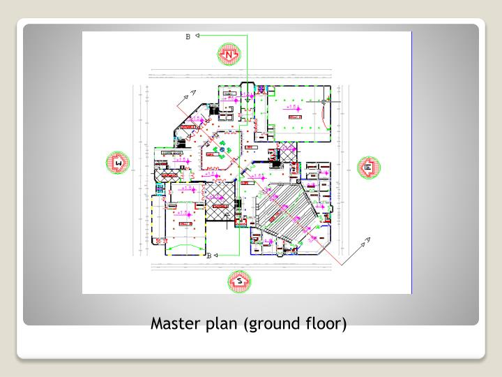 Master plan (ground floor)