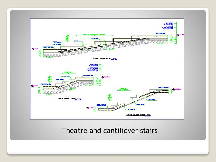 Theatre and cantiliever stairs