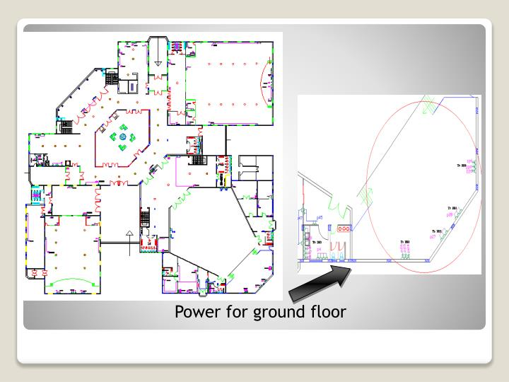 Power for ground floor