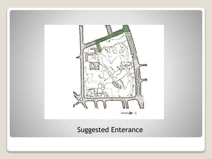 Suggested Enterance