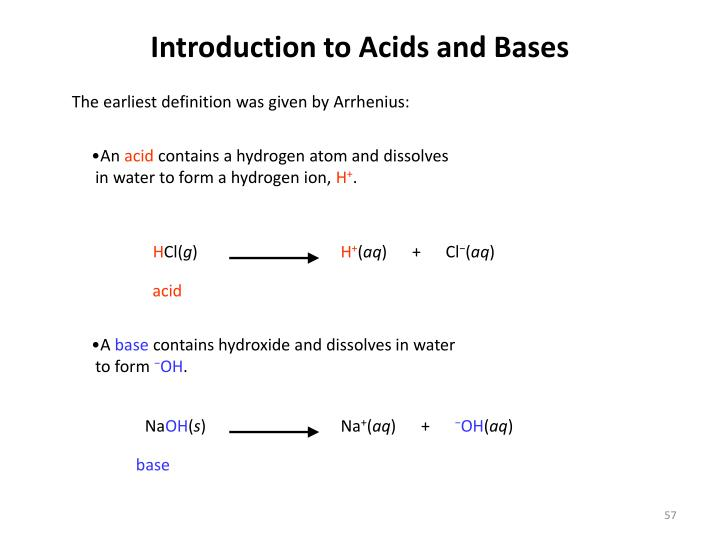 Introduction to Acids and Bases