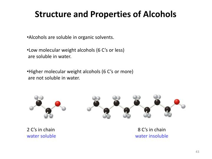 Structure and Properties of Alcohols