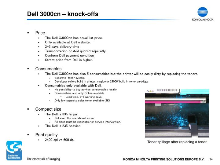 Dell 3000cn – knock-offs
