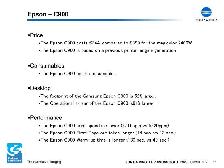 Epson – C900