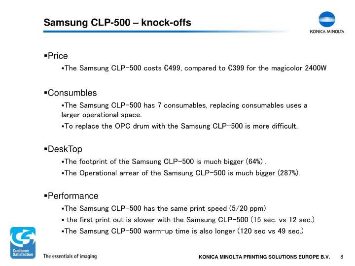 Samsung CLP-500 – knock-offs