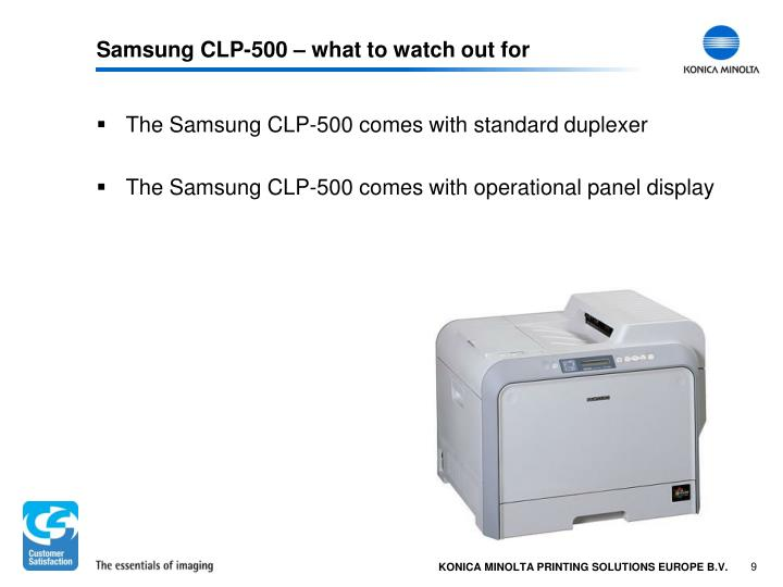 Samsung CLP-500 – what to watch out for