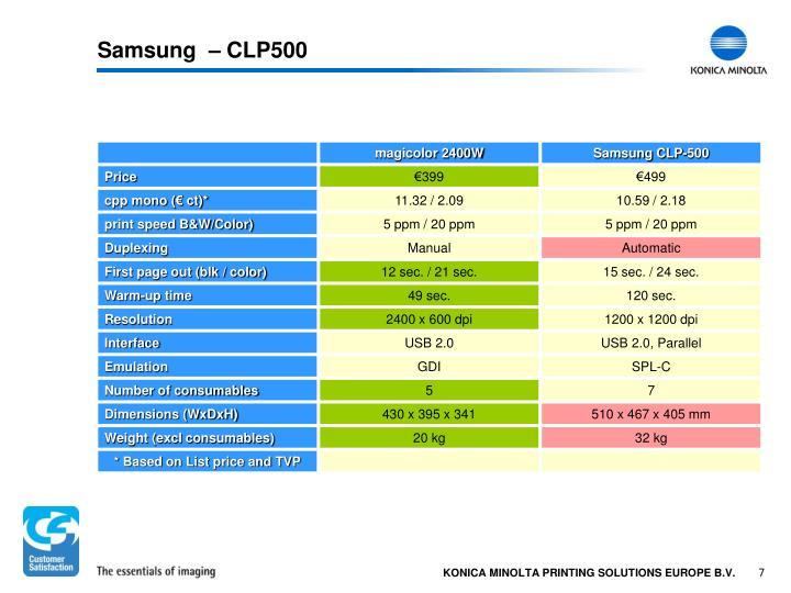 Samsung  – CLP500