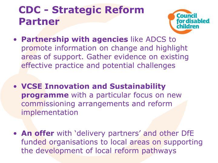 CDC - Strategic Reform Partner