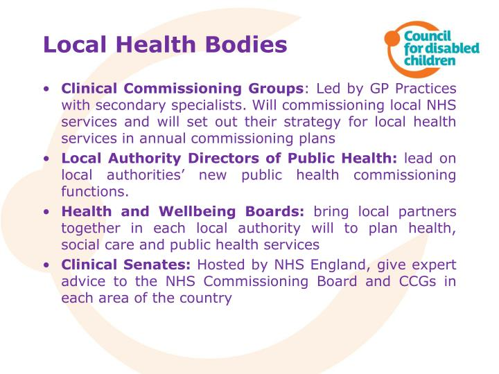 Local Health Bodies