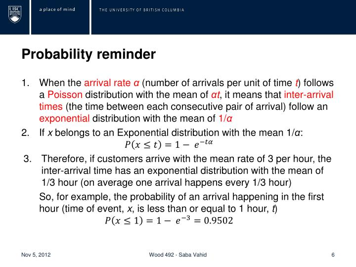 Probability reminder