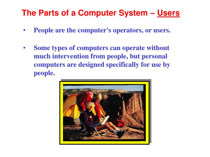 The Parts of a Computer System –