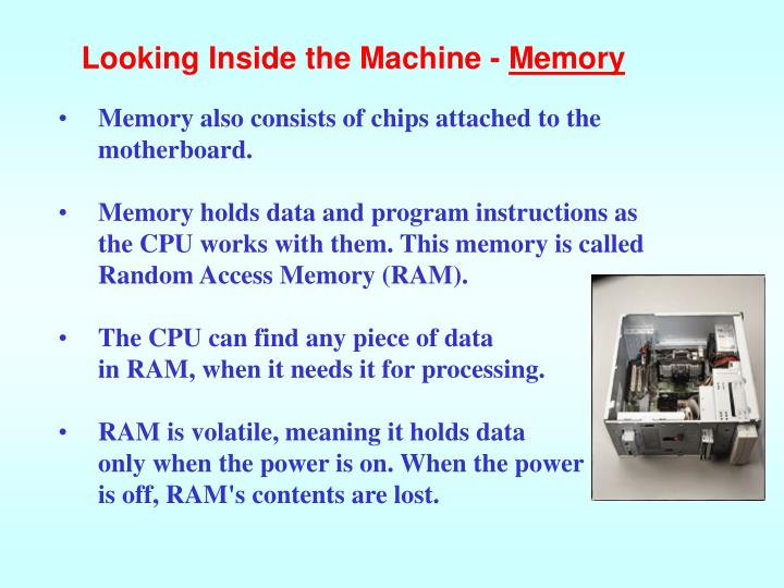 Looking Inside the Machine -