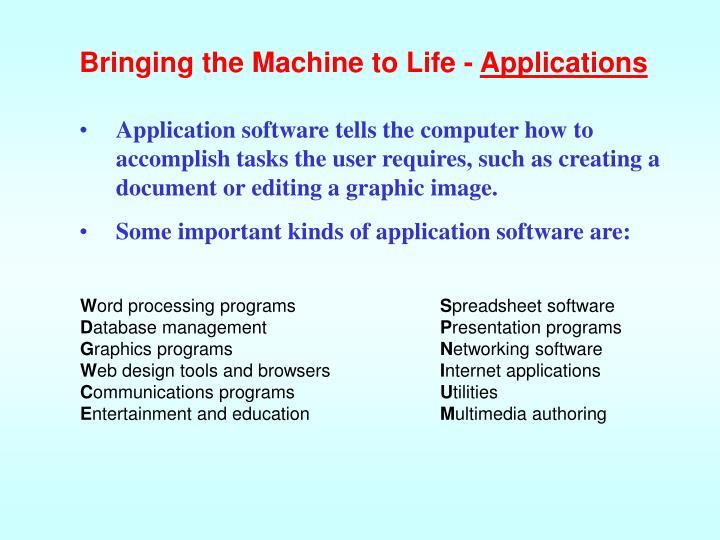 Bringing the Machine to Life -