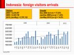 indonesia foreign visitors arrivals