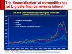 the financialization of commodities has led to greater financial investor interest