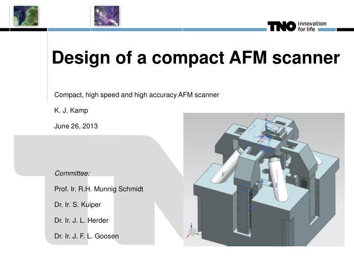 Design of a compact afm scanner