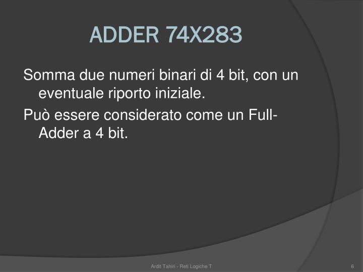 ADDER 74X283