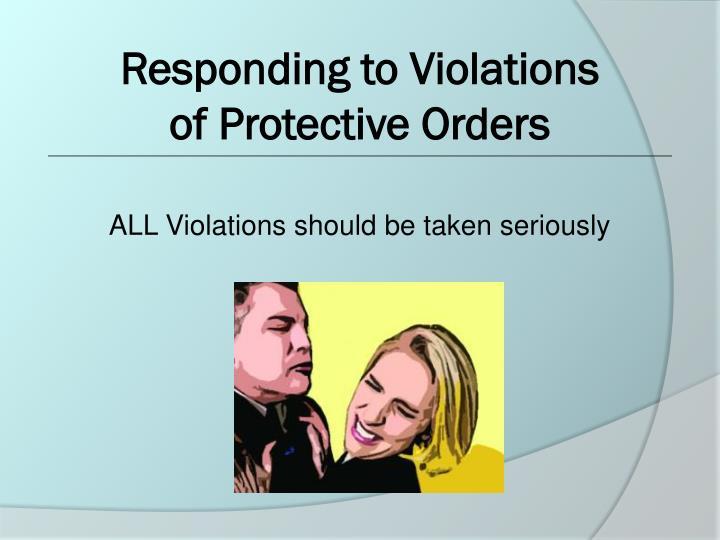 Responding to Violations